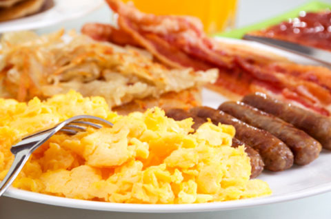 Breakfast: Eggs, Bacon & Sausage